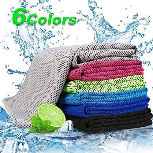 Cooling handdoek voor sport & fitness | 30 x 100 cm koeldoek handdoek/microvezel handdoek verkoelend | ijsdoek, zacht, ademend koelende handdoeken voor yoga, hardlopen en outdoor sporten