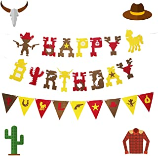 97 Piece Western Cowboy Theme Birthday Party Favor Bundle Pack for 12 Kids