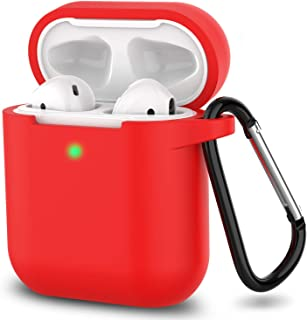 Airpods Case Silicone AirPods Accessories Cover Compatiable with Apple AirPods Wireless Charging Case (Red)