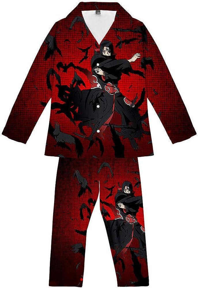 Anime Naruto Uchiha Itachi 2 Piezas Conjunto De Pijamas ...