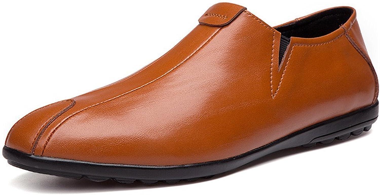 Men's Fashionable Driving Loafer Patch Decor Super Light Slip on Moccasins shoes