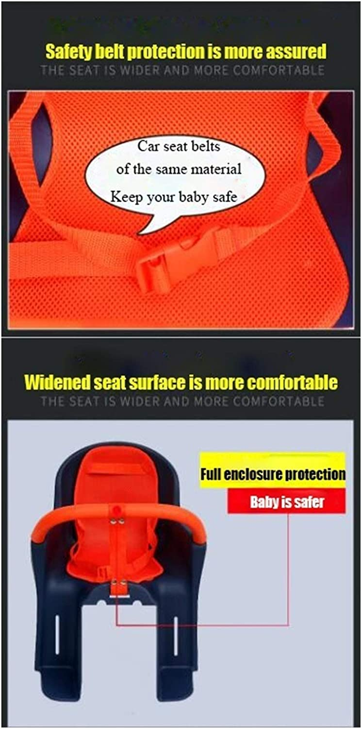 GYR Baby Bike Seat Toddlers Rear Mount Baby Carrier Seat Bike Carrier Safety Standard with Handrail Racks Deluxe Bicycle Mounted Child Carrier//Bike Seat for Children and Kids