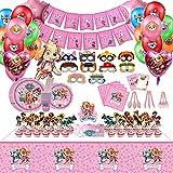 169pcs Pink Paw Patrol Party Supplies , Dog theme...