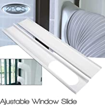 GUCHIS 2Pcs Window Slide Kit Plate/6inch Window Adapter for Portable Air Conditioner