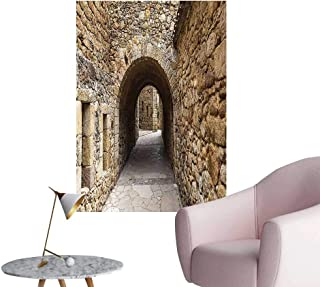 Wall Art Prints Medieval Ancient Historic Street with Stone Walls in Pals Girona Catalonia Spai for Living Room Ready to Stick on Wall,20