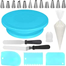 Kootek 69 Pcs Cake Decorating Tools Supplies with Cake Turntable, 50 Disposable Pastry Bags, 12 Piping Tips, 2 Icing Spatu...
