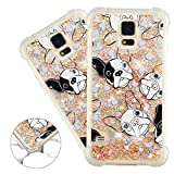 HMTECHUS Samsung Galaxy S5 case 3D Pattern Quicksand Diamonds Shiny Floating Glitter Flowing Liquid Shockproof Protect Silicone Cover for Samsung Galaxy S5 / 9600 Bling Dog YB