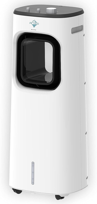 ARTICO SY-CL420 Climatizador Evaporativo Ventilador Humidificador Purificador, con Ruedas y Tanque de Agua 3.3L, 3 Velocidades