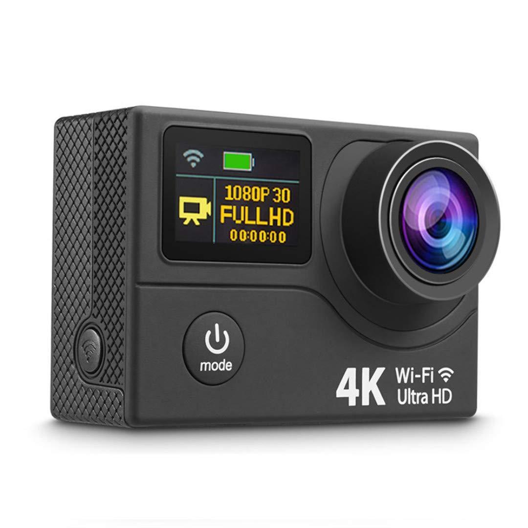 モーションカメラ4 k HD wifi手直接屋外の手ブレヘルメットダイビングは32Gカード防水シェルで約15万画素のデュアル170度の広角60メートル防水スポーツのDVに乗って下に着用します。