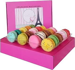 LeilaLove Paris Souvenir 18 Gourmet Macarons - Baked to order up to dozen Flavor Assortments