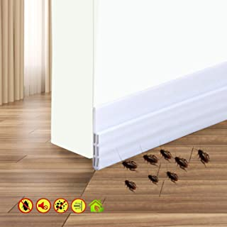 Door Draft Stopper Door Sweep Weather Stipping - Camel Home Self Adhesive Door Seal Soundproof Under Door Bottom Seal Strip Rubber Energy Saver Insulasion Weatherproof, 2