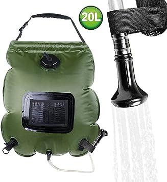 FLYFISH Bolsa de ducha solar de 20 l para camping, ducha ...