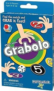 PlayMonster Grabolo - Fast-Grabbing Card Game, Blue (7283)