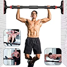 Peachtree Door Exercise Equipment Bar Without Screw Chin Up Bar with Locking Mechanism Pull Up Bar for Doorway Workout Bar...
