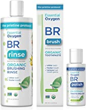 Essential Oxygen Pristine Protocol A 3-Step System (1. Rinse 2. Brush 3. Polish) for Your Best Smile Ever, 3 Count
