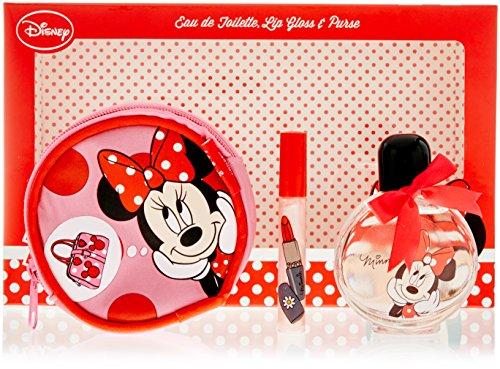 Disney Minnie Mouse geur cadeauset - eau de toilette 50 ml, lipgloss 5 ml, portemonnee, per stuk verpakt (1 x 0,24 kg)