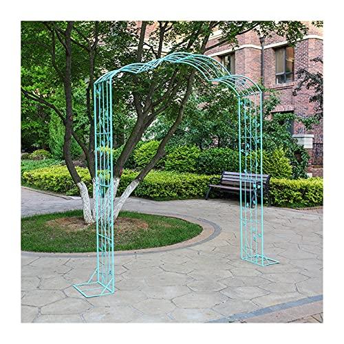 KLZWCP Arco de Rosas Trepadoras, Arco De Jardín, Arbor De Rose para Varias Plantas De Escalada, Jardín Al Aire Libre, Jardín, Anillas, Azul, 181 * 40 * 239cm