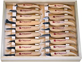 FLEXCUT KN250 Deluxe Knife Set, 18 Razor-Sharp Carving Knives Included