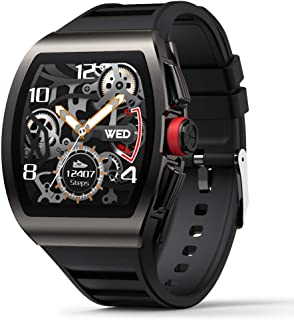 Smart Watch for Android and iOS Phones, Smart Watches for Men, Smartwatch with Heart Rate and Blood Pressure Monitor, Fitness Watch IP68 Waterproof, Step Sleep Tracker Message Reminder, Mens Watches