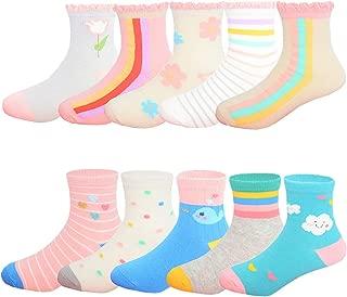 Toddler Little Girls' Cute Cotton Socks 10 Pack