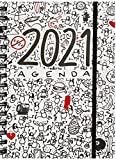 MIQUELRIUS - Agenda 2021 T-Diary - Español, Semana Vista, Tamaño 155 x 213 mm (~A5), Papel 90 g, Cubierta Rígida Cartón...
