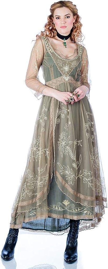Nataya 40163 Women's Downton Abbey Vintage Style Wedding Dress in Sage