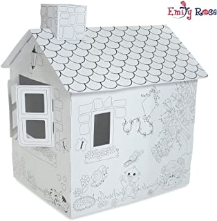 Emily Rose Incredible Dollhouse or Kid's Play House, Ready to Paint and Decorate | Great Party Activity! (Country Cottage)