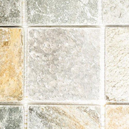 Brick quarzite Beige/Grigio pietra naturale mosaico