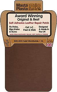 MastaPlasta Self-Adhesive Patch for Leather and Vinyl Repair, XL Plain, Tan - 8 x 11 Inch