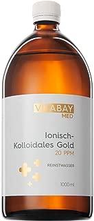 Coloidal Gold 20 PPM - altamente concentrado (nivel de pureza 99.99%) (1000 ml)