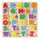Grsafety ABC Alphabet Learning English Bambini Bambini Legno Peg Puzzle Educazione precoce Giocattoli Enigma Puzzle Toy