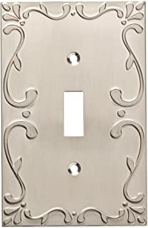 Franklin Brass W35070-SN-C Classic Lace Single Switch Wall Plate/Switch Plate/Cover, Satin Nickel
