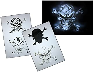 UMR-Design AS-063 Pirate Skull Airbrush Stencil Template Step Step Size M