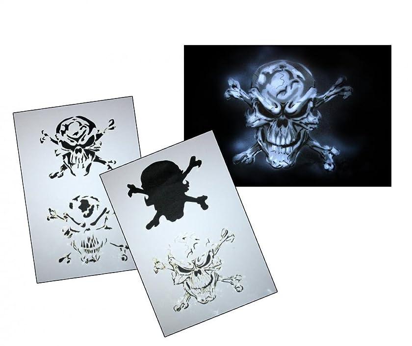 UMR-Design AS-063 Pirate Skull Airbrush Stencil Template Step Step Size M