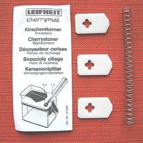 2 X Leifheit Gummilippe + Feder für Cherrymat Kirschen-Entkerner