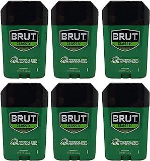Brut Deodorant Original Fragrance 2.25 Oz /63 G (Pack of 6)