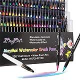 MayMoi Watercolor Brush Pens - 100 Colors Watercolor Markers & 1...