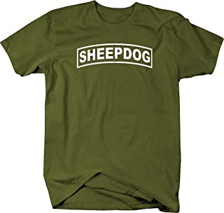 One Stop Services Sheepdog Military Shoulder Tab Design T Shirt XL