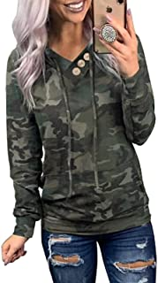 Dokotoo Women's Casual Long Sleeve Hoodies Sweatshirts Drawstring Pullover Tunic Tops With Pockets