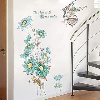 Set Flowers World Wall Window Vinyl Stickers Adhesive Decal