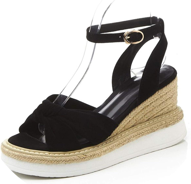 Yeenvan}Women Wedges Sandals Open Toe Platform High Heels shoes Sandals Women Casual shoes
