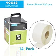 Wangsale 99012 S0722400 36 x 89mm White Standard Address LabelsCompatible for Dymo LabelWriter & Seiko Label Printers, 260 Labels per Roll /12 Roll