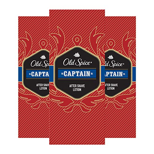 Old Spice Captain After Shave Lotion, 100ml (3 x 100 ml)