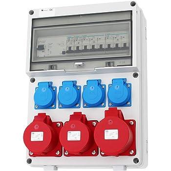 Stromverteiler 2+32A  2x230 Wandverteiler Baustromverteiler CEE IP66 Schuko