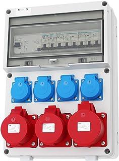 Wandverteiler FI 2x 16A  1x 32A  4x 230V Stromverteiler Baustromverteiler Verteiler Feuchtraumverteiler AWVT1-3V2