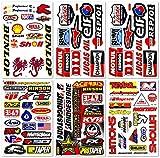 Motocross Motorcross Dirt Bike Dirtbike Motorcycles Moto Race ATV Accessories Sponsor Logos Helmet Parts Racing Pack 6 Vinyl Graphics Sticker Decal Kits Sheet D6724 Best4Buy