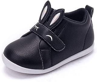 MINGAZ Girls Shoes, Children's Shoes, Autumn Baby Shoes, Fashion Toddler Shoes, 2-3-6 Girls Shoes (Color : Black, Size : 23EU)
