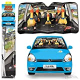 Archie McPhee Auto Sunshade Car Full of Rubber Chickens Standard