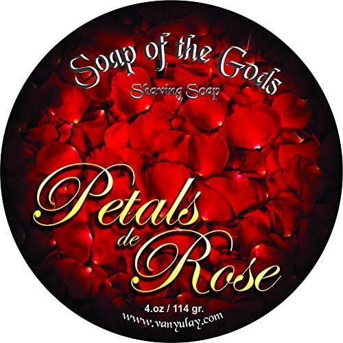 Shaving Soap of The Gods Rose 4.oz Manufacturer OFFicial shop Pétales Limited price De