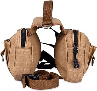 comprar comparacion POPETPOP Paquete de Perro Hound Travel Senderismo Mochila de Viaje Saddle Bag Mochila para Perro Mediano y Grande (de Colo...
